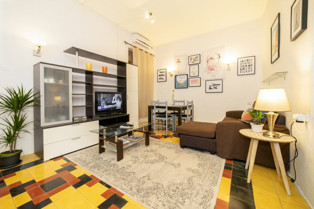 sliema boutique apartment living room with free wifi