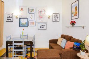 sliema boutique apartment living room detail